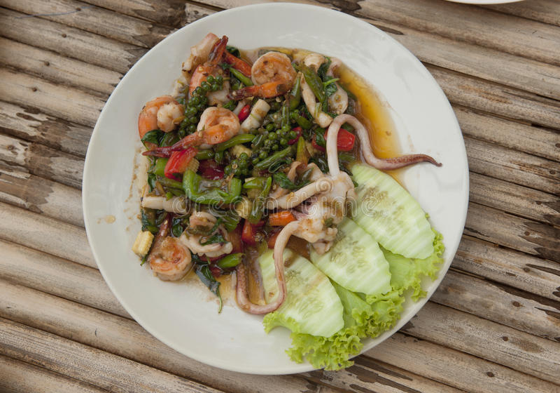Thailand Seafood Salad Stock Photo