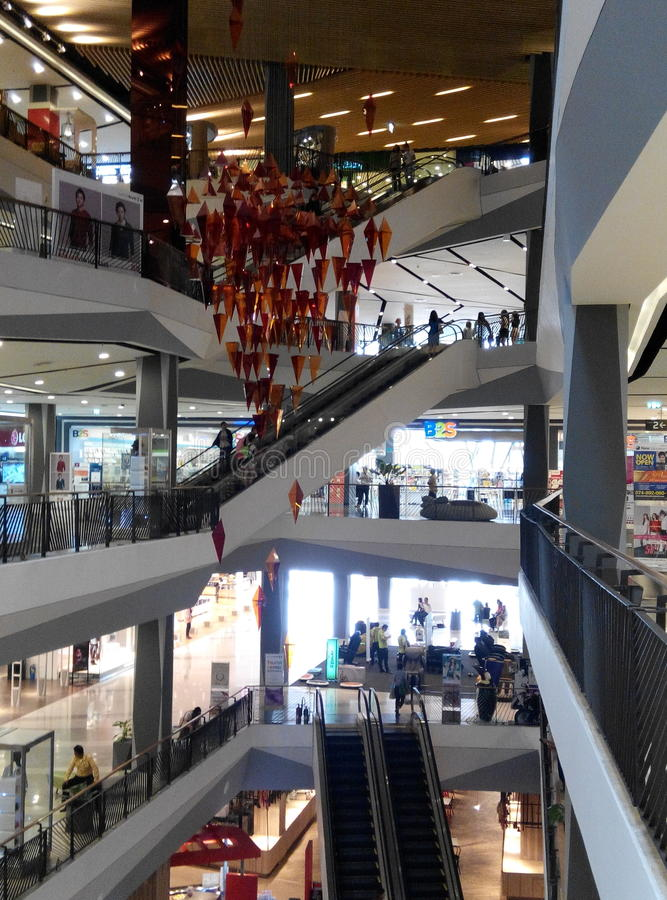 Thailand shopping mall stock image