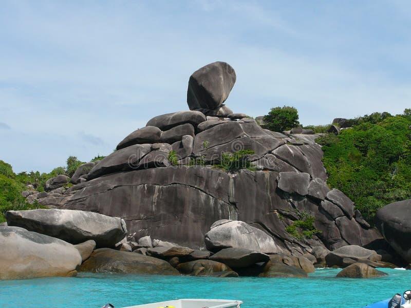 Thailand Similan island. Thailand bay Similan island Sea,white sand royalty free stock photo