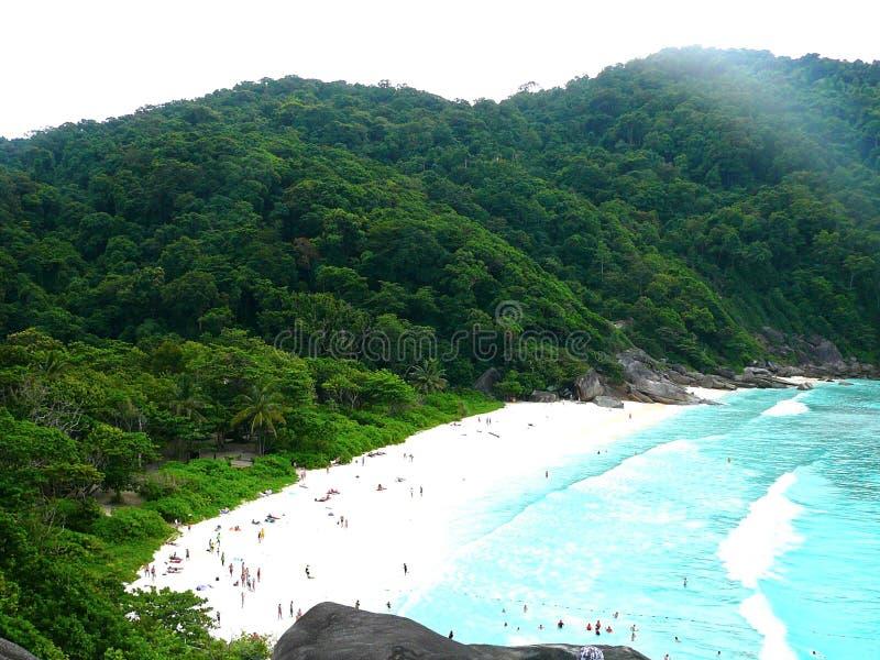Thailand Similan island. Thailand bay Similan island Sea,white sand royalty free stock photography
