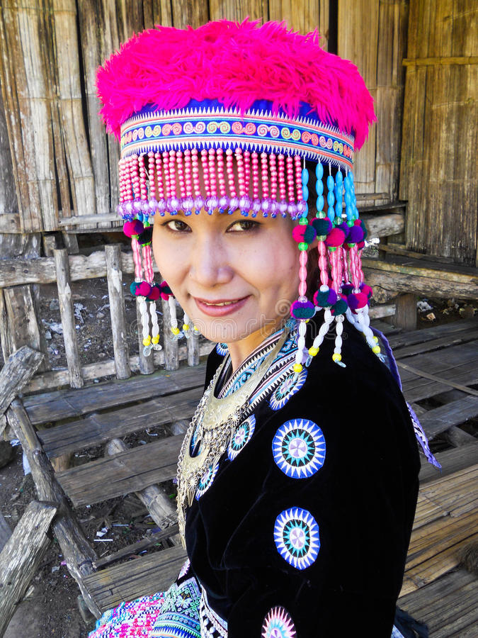 thailand stam- kvinnor royaltyfri foto
