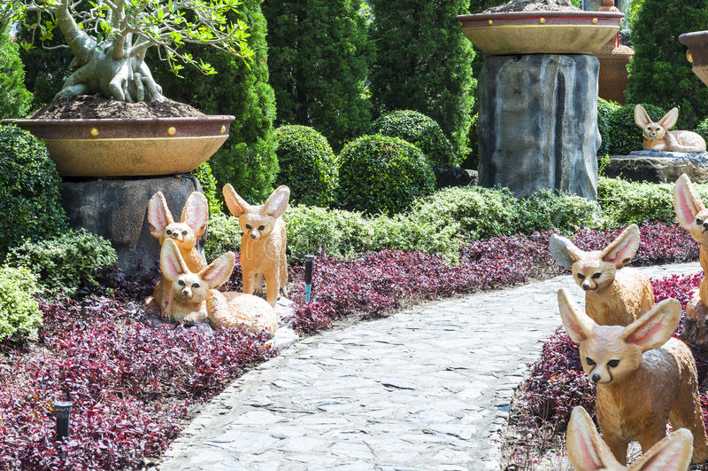 Thailand style garden stock image
