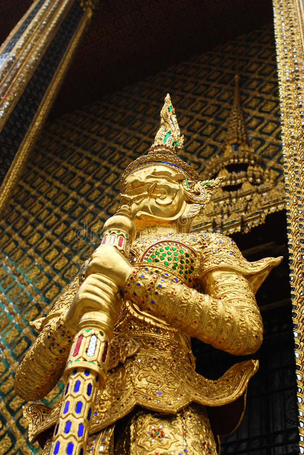 Thailand style sculpture details stock photo