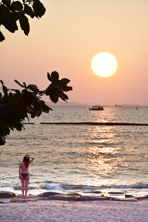 Thailand sunset pattaya royalty free stock photography