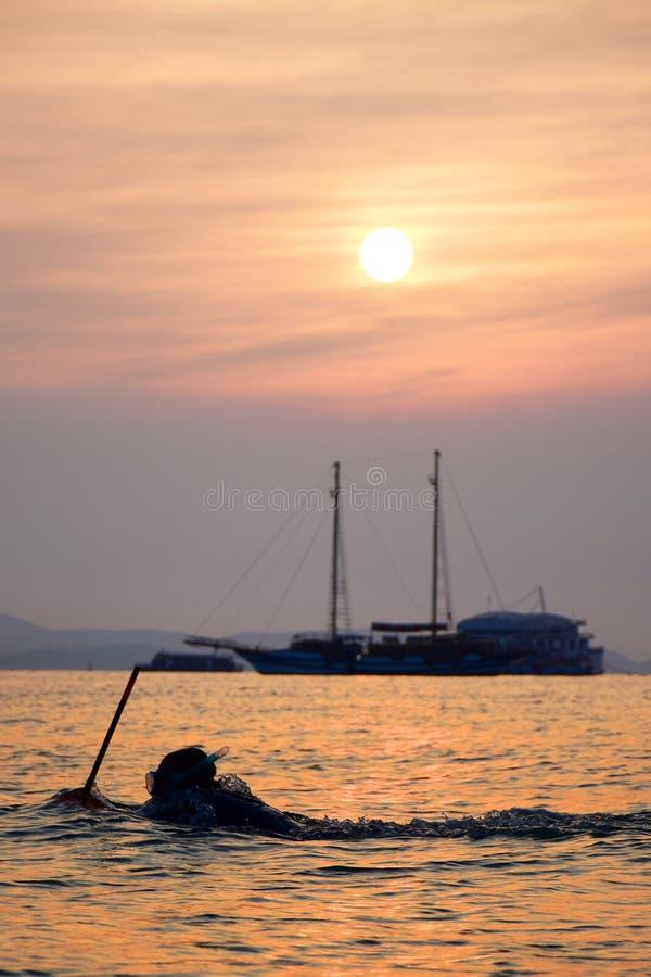 Thailand sunset pattaya stock images
