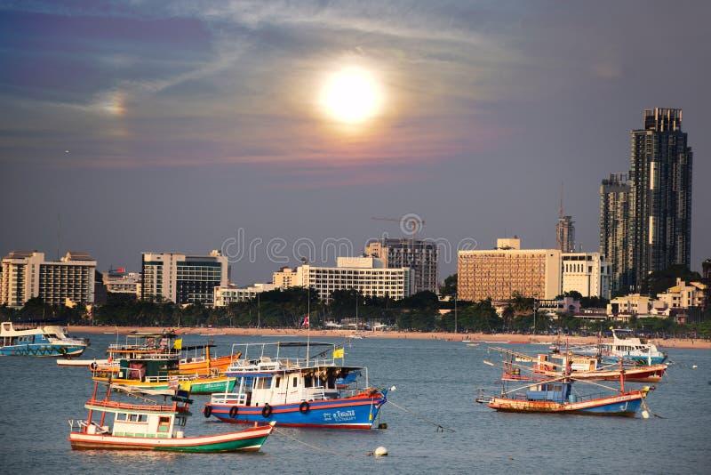 Thailand sunset pattaya royalty free stock photos