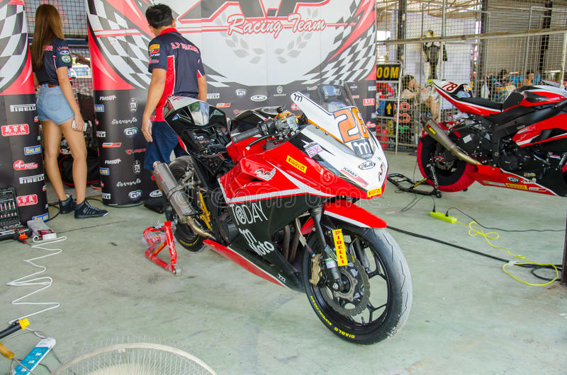 Thailand SuperBikes Championship 2015 Round 1 royalty free stock photo