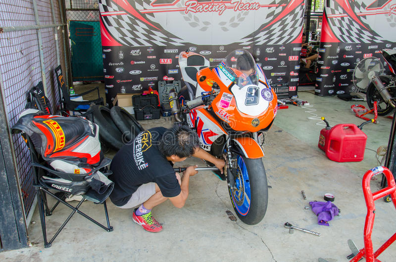 Thailand SuperBikes Championship 2015 Round 1 stock photos