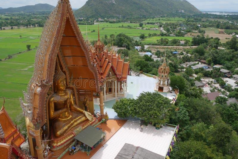 Thailand tempel, Wat Tam Sua arkivfoton
