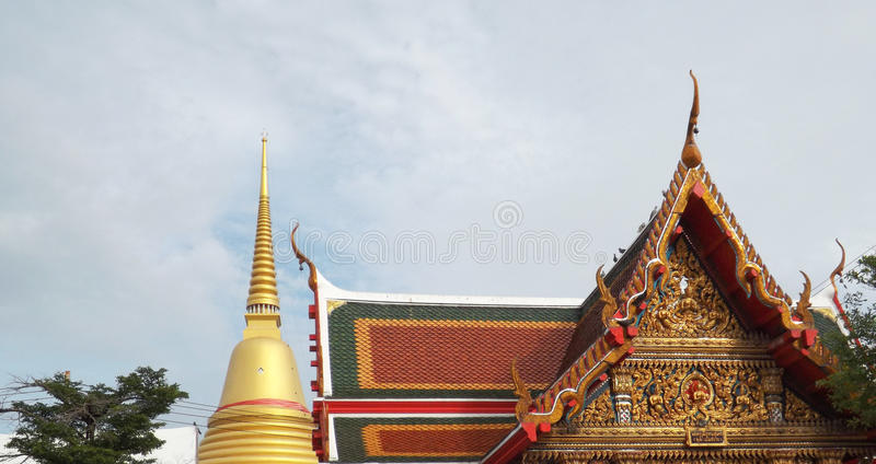 Thailand Temple , Wat Bangplee yai nai at Samutprakan,Thailand. royalty free stock photos