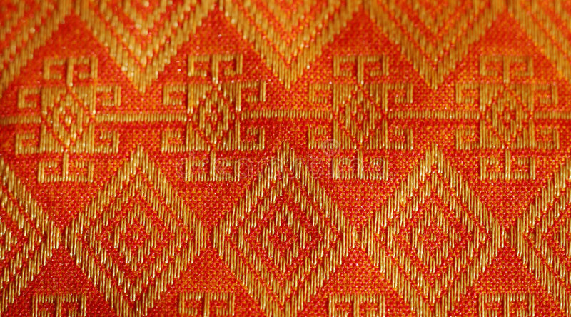 Thailand textile stock illustration