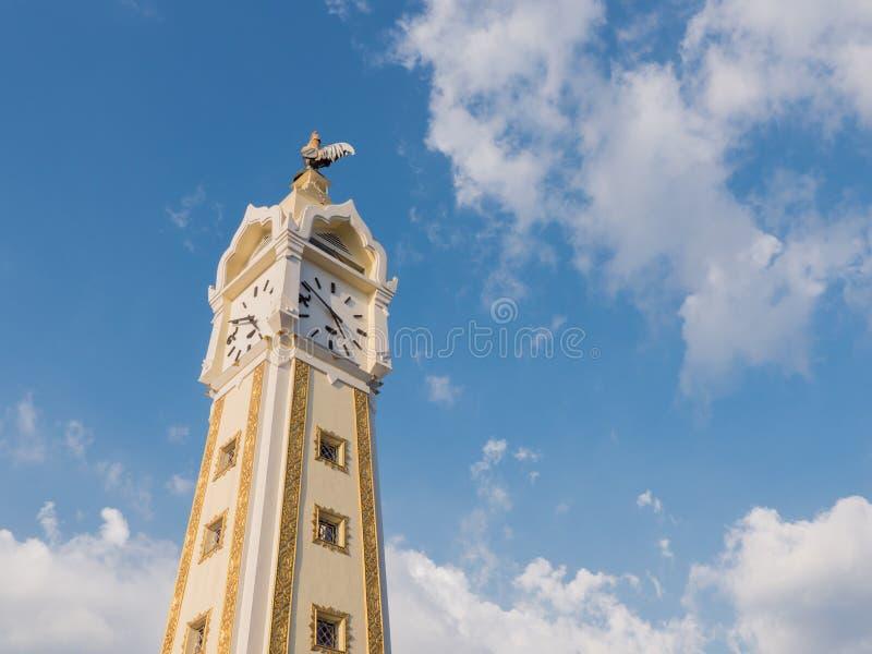 Thailand tower clock stock photo