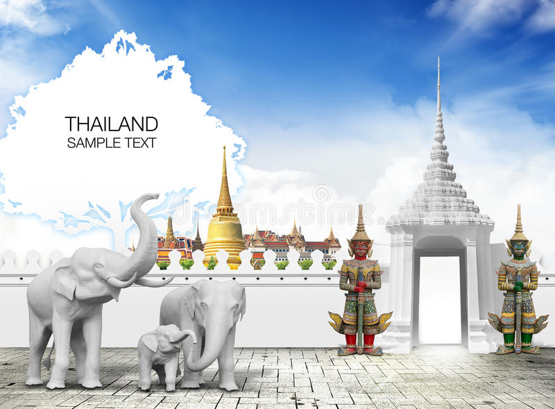 Thailand travel stock illustration