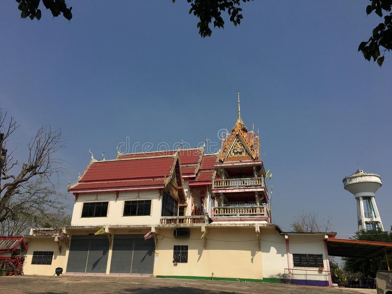 Thailand wat and sky. stock photography