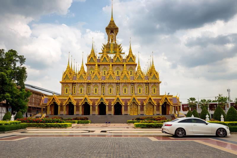 Thailand Wat Tha Sung Golden Castle the best tourism landmark in. Uthai Thani, Thailand stock image