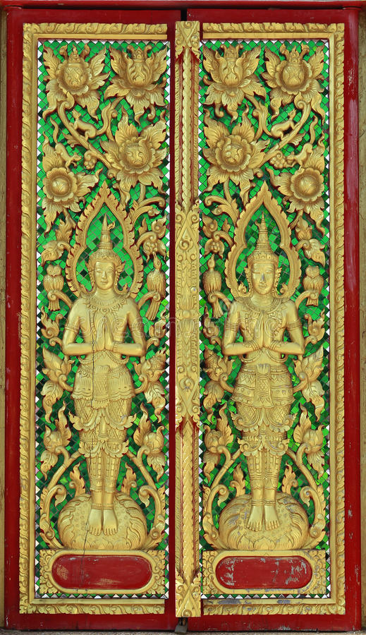 Thailand wood carving stock images