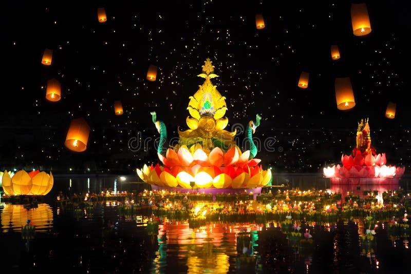 Thailands Loy Krathong Festival tradizionale fotografie stock libere da diritti