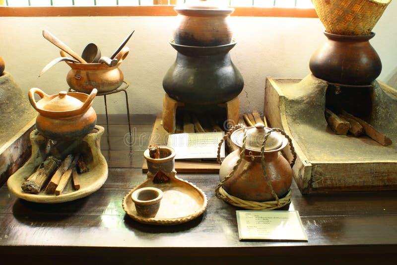 Thailands Töpferware von der Vergangenheit stockbild