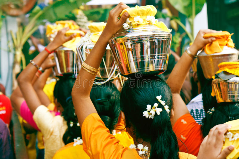 Thaipusam Festival 2012: Queuing up to the caves royalty free stock photography