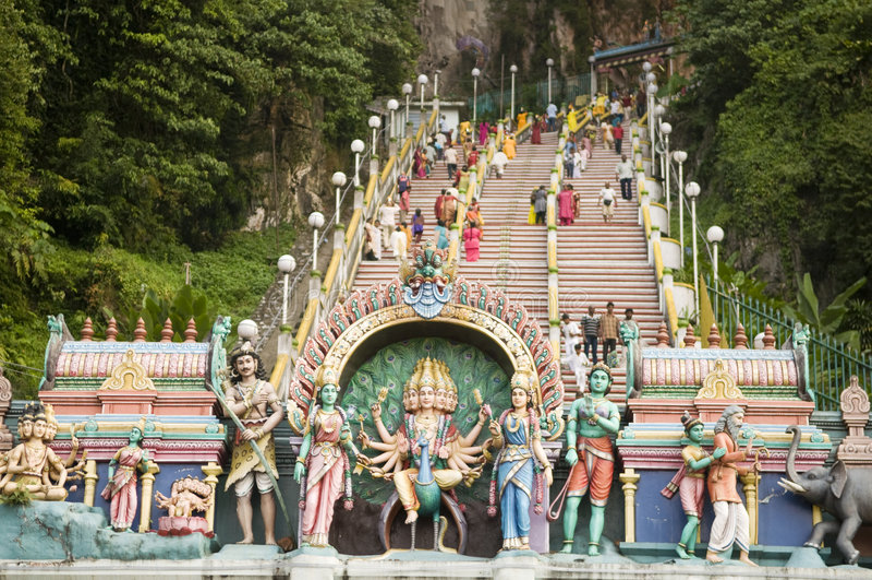 Thaipusam hinduisk festival royaltyfri foto