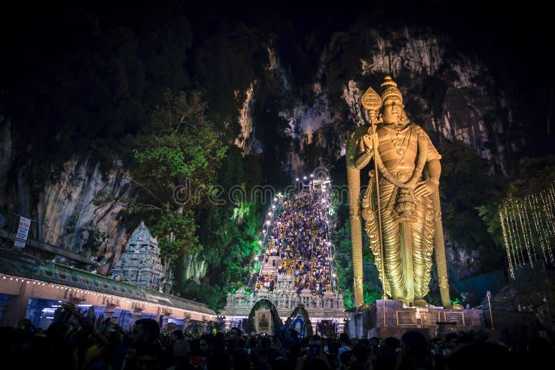 Thaipusam Thaipoosam är en festival som firas av tamilgemenskapen arkivbild