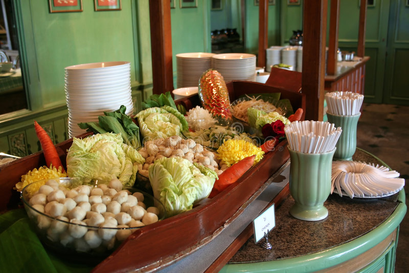 Thais buffet royalty-vrije stock foto's
