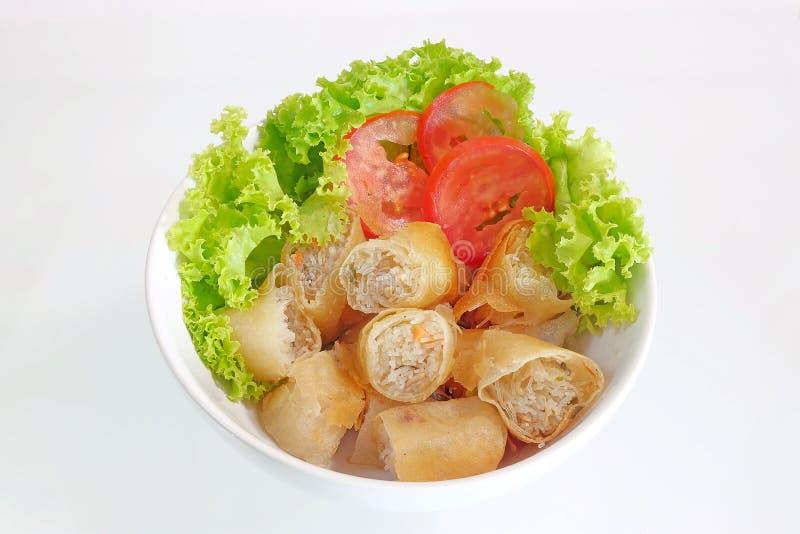 Thais de Lentebroodje en verse salade royalty-vrije stock afbeelding