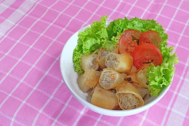 Thais de Lentebroodje en verse salade royalty-vrije stock foto's
