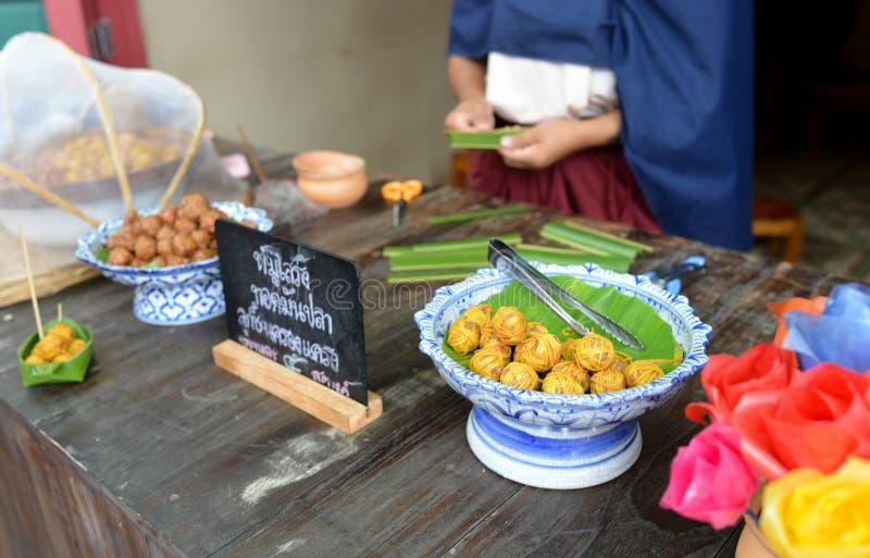 Thais dessert in Mallika-stad stock afbeelding