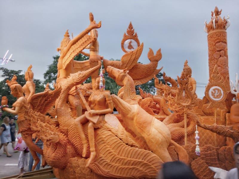 Thais kaarsfestival stock afbeelding