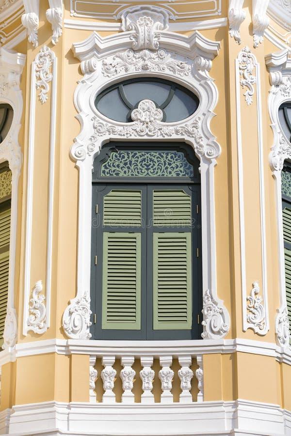 Thais Klassiek Venster Bangkok Thailand royalty-vrije stock fotografie