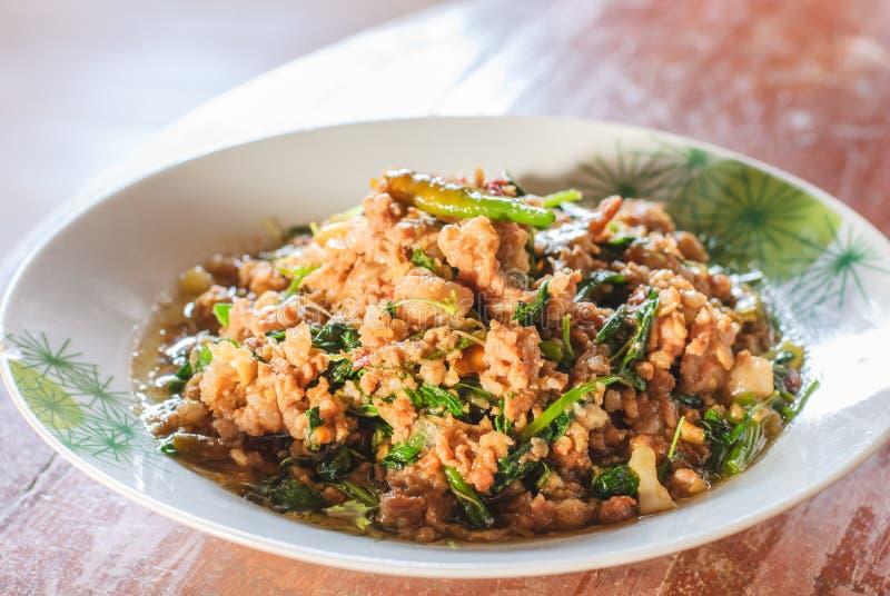 Thais kruidig voedsel stock foto's