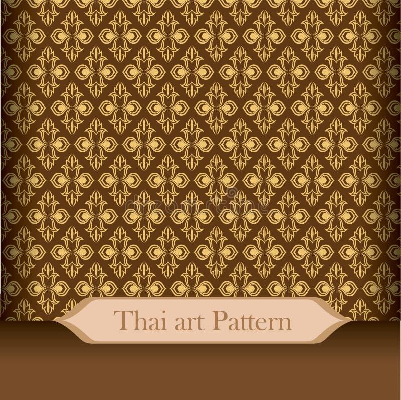 Thais kunstpatroon stock afbeelding