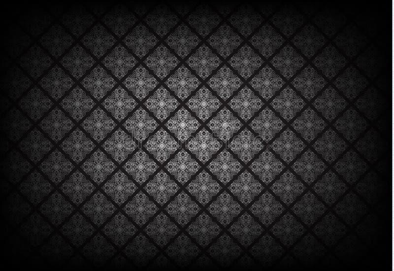 Thais kunstpatroon op zwarte achtergrond Vector vector illustratie