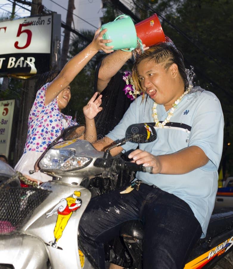 Thais nieuw jaar - waterfestival royalty-vrije stock afbeeldingen