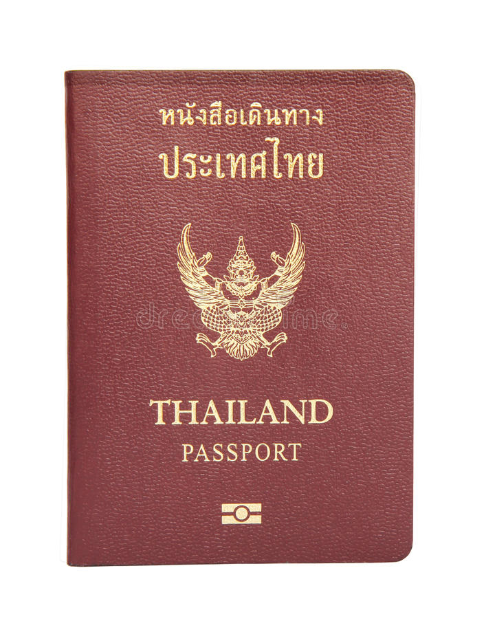 Thais paspoort royalty-vrije stock afbeeldingen