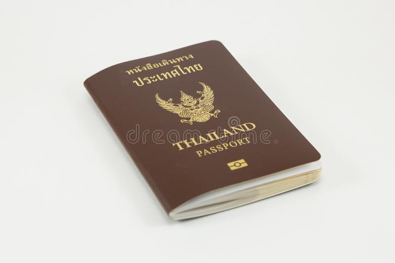 Thais paspoort op witte achtergrond royalty-vrije stock foto
