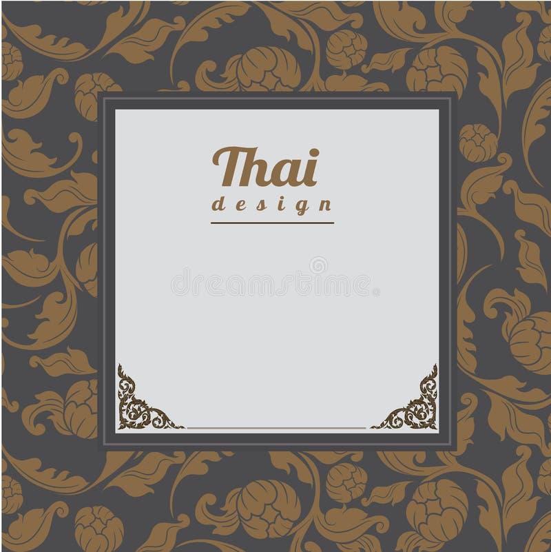 Thais Patroon, Achtergrond stock illustratie