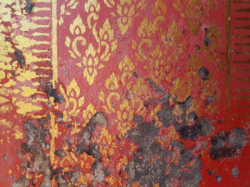 Thais patroon op de muur stock afbeeldingen