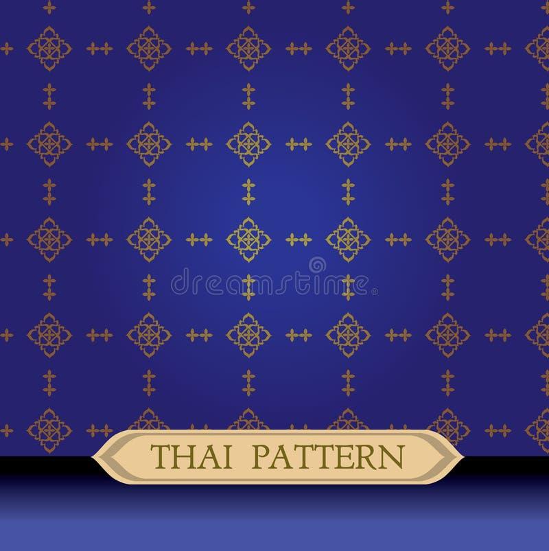 Thais patroonblauw royalty-vrije stock fotografie