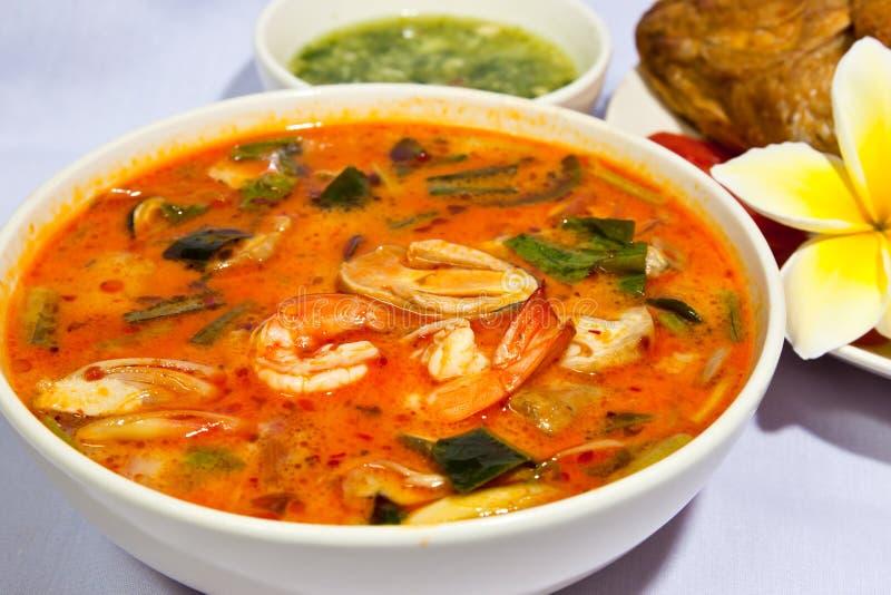 Thais populair voedselmenu stock afbeeldingen