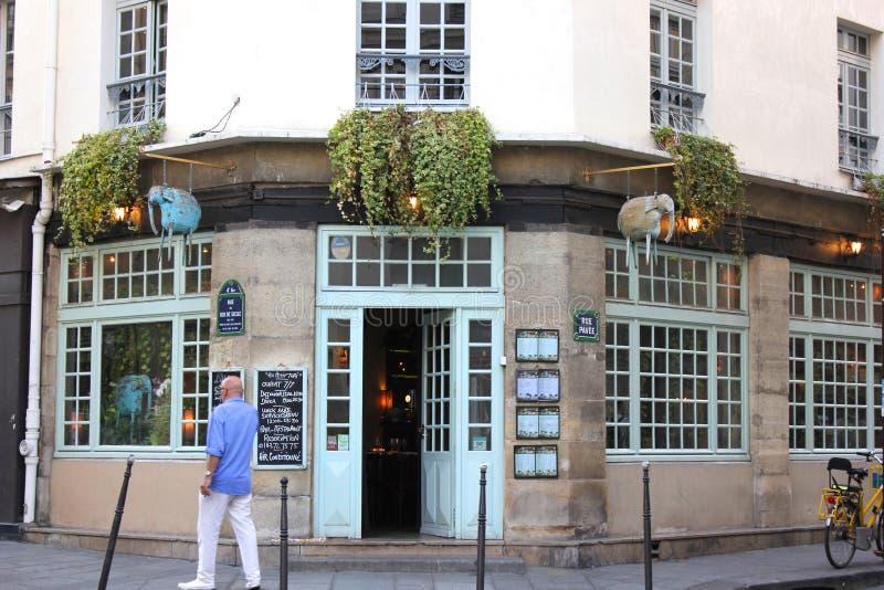 Thais restaurant op het Marais-gebied van Parijs, Frankrijk royalty-vrije stock fotografie