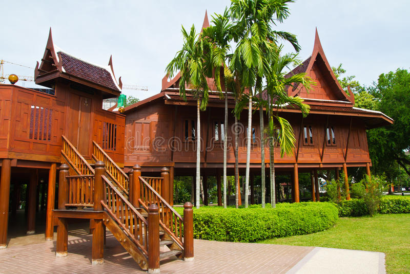 Thais stijlhuis stock foto's