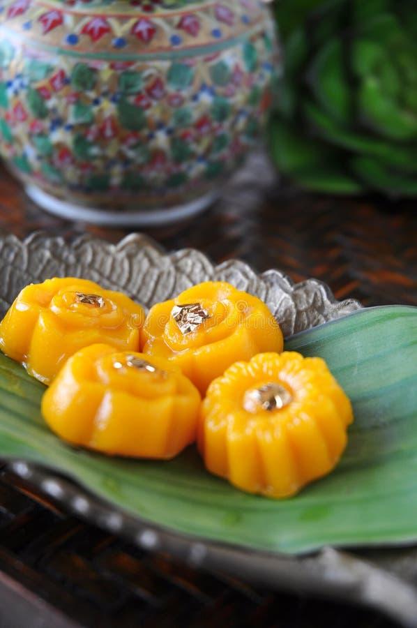 Thais traditioneel dessert stock foto's
