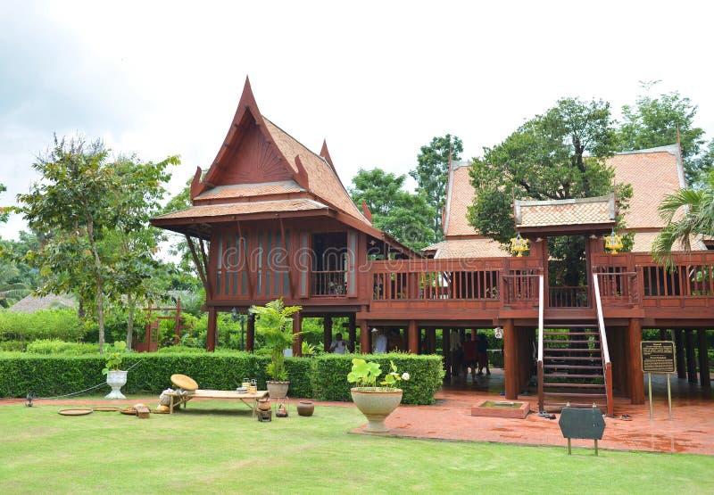 Thais traditioneel huis stock fotografie