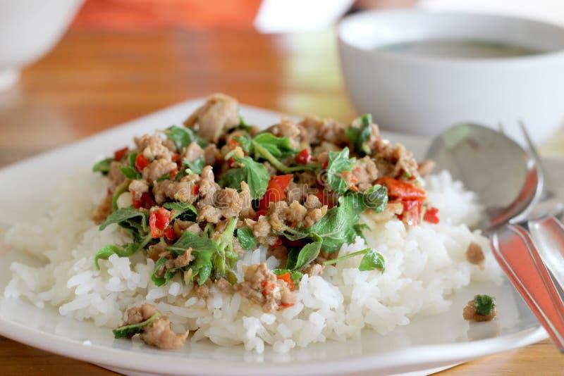 Thais voedsel - beweeg gebraden gerecht #6 stock afbeeldingen