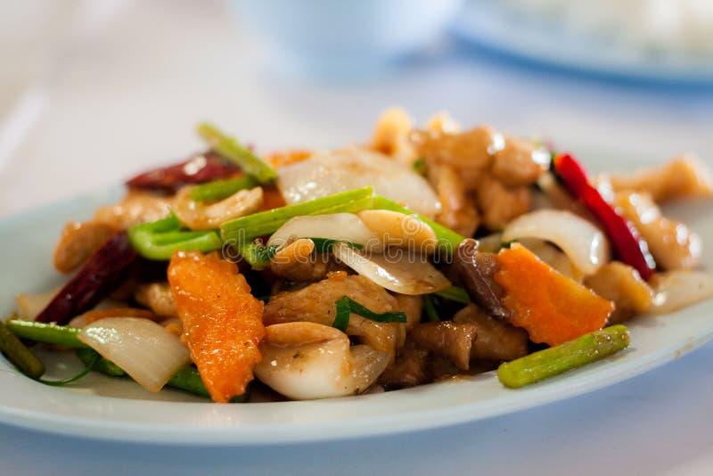 Thais voedsel - beweeg gebraden gerecht #6 stock foto