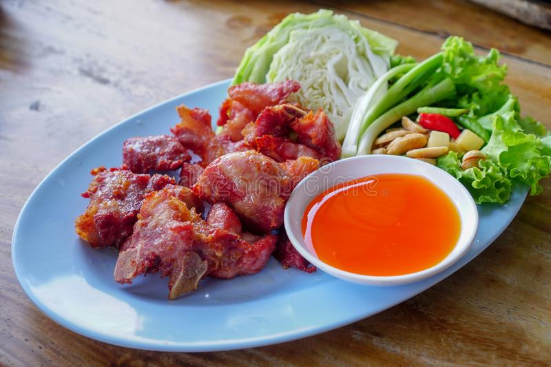 Thais Voedsel, Fried Fermented Spare Ribs royalty-vrije stock afbeeldingen