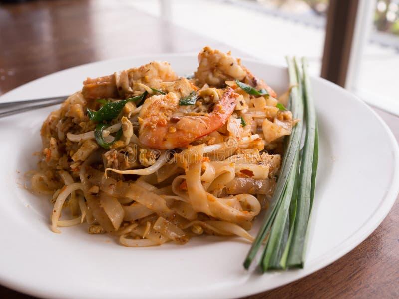 Thais voedsel, Thaise noedelgarnalen stock foto