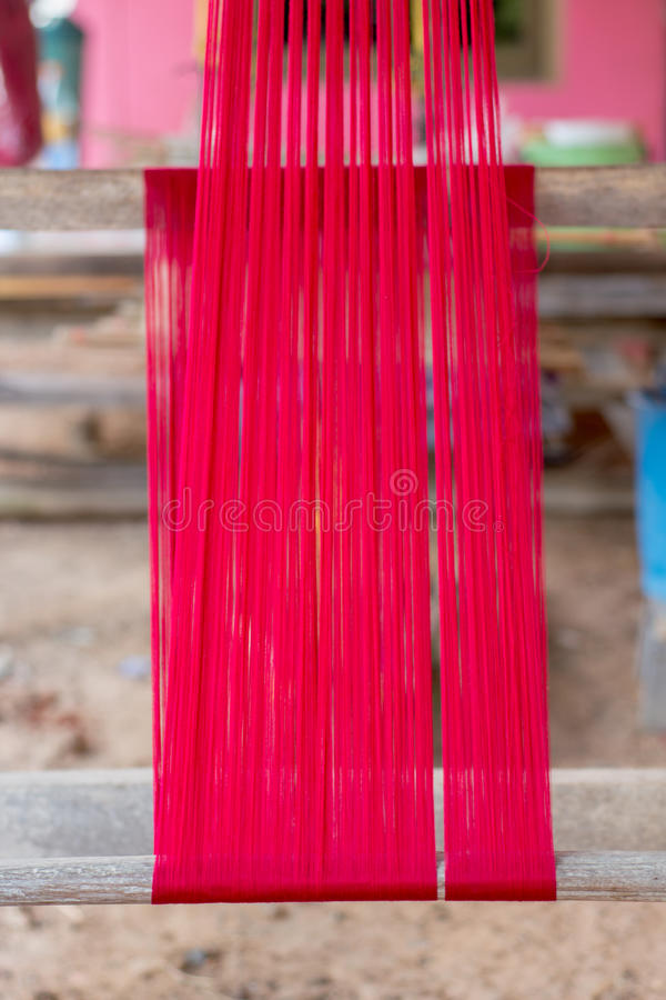 Thais weefgetouw stock foto's